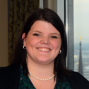 A photo of the new executive director, Emily Carpenter.