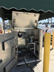 "An exmple of a non-dedicated (or non-""purpose-built"") propane fueling station, which is primarily used for fills other than propane vehicles (e.g., barbecue grill cylinders)."