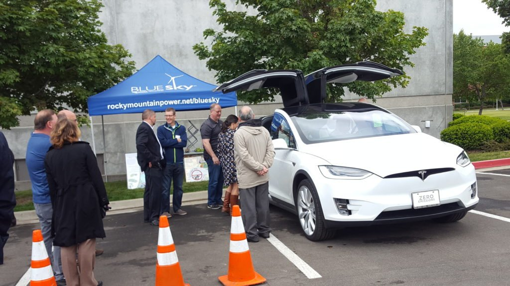 Rocky Mountain Power hosted the EV event and helped bring a crowd of CEOs to the event to learn about EVs.