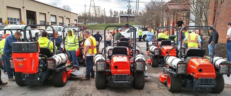 City of Knoxville propane mowers