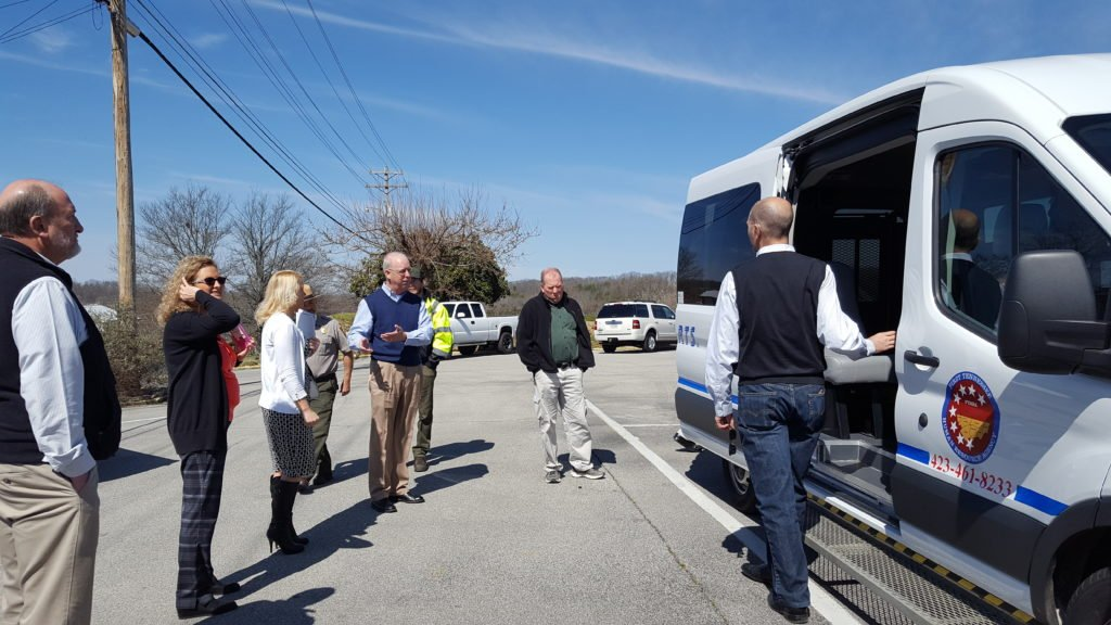 Alliance Autogas representative Happy Fox discussed NET Trans implementation of the PRINS system with a group at a Greeneville, TN East TN Clean Fuels Coalition meeting that took place in Frbruary 2017.